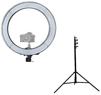 "Prismatic 18"" Halo Ring Light with Stand"